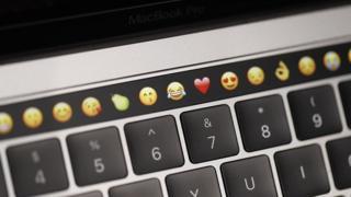 Close-up of Apple Mac