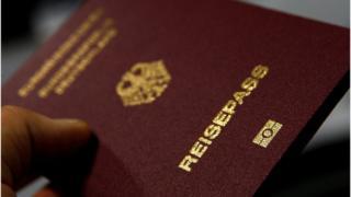 A German passport (file photo)