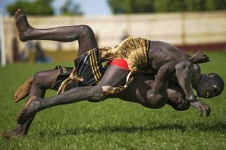 Wrestlers in Sudan