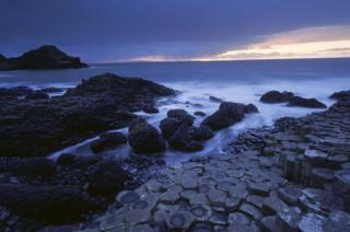 Giant's Causeway at evening light