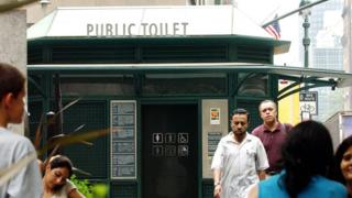 A public toilet in New York City