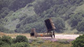 Israel missile defence system in Golan, May 7
