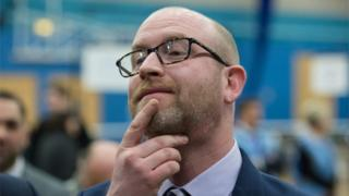 UKIP leader Paul Nuttall after he lost to Labour in the Stoke-on-Trent Central by-election