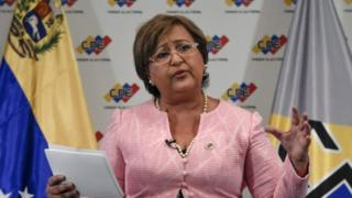 """The head of Venezuela""""s National Electoral Council(CNE), Tibisay Lucena, Caracas on August 9, 2016."""