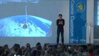 Tim Peake is preparing to talk to hundreds of school pupils in a live broadcast to the World Museum in Liverpool.