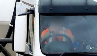 Lorry driver on the M20