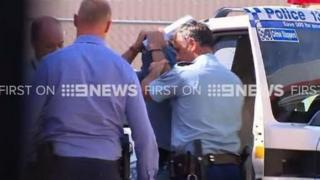 The man after his arrest in rural New South Wales