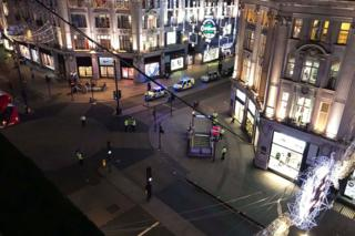 Aerial view of Oxford Circus