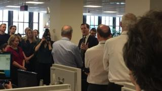 George Osborne at the Evening Standard offices