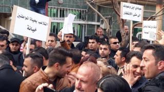 المتظاهرون قطعوا 10 كيلومترات سيرا على الأقدام