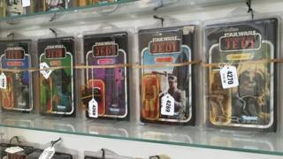Boxed Star Wars figures among the items in the Vectis auction