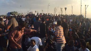 Thousands are protesting at Chennai's Marina beach