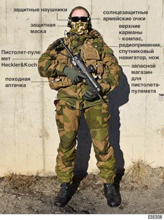 описание полного снаряжения женщины-солдата спецназа