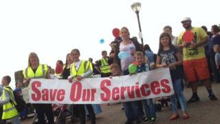 Protest yn Y Rhyl