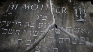 Vandalised headstone
