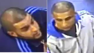 CCTV images of the men wanted for information