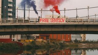 Акція у підтримку Сенцова