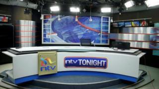 An empty studio belonging to the NTV channel pictured in Nairobi on 1 February 2018