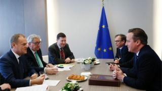 Cameron at EU neegotiation talks