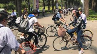 Bike Sharing Wheels in Shanghai