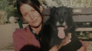 Alison Jane Farr-Davies and Max the dog