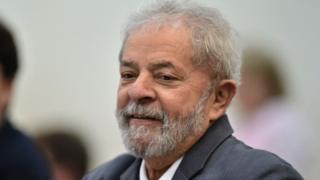 Lula during a seminar in Sao Paulo, 25 April 16