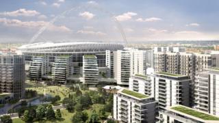 CGI of Wembley development