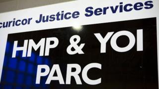 An HMP Parc sign