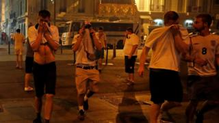 England fans teargassed in Marseille