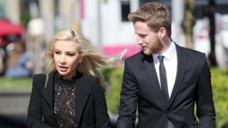 Laura Lacole and Eunan O'Kane arriving at court on Friday