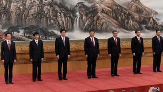 中共十九大七常委檔案:細看中國最有權勢的七個人