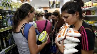Venezuela'da bir market