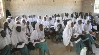 Muslim students in the village of Tanji