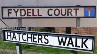 Fydell Court and the fake sign