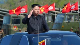 Ким Чен Ын на параде