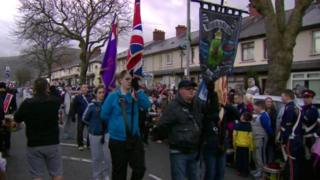 The parade was held in north Belfast on Thursday evening