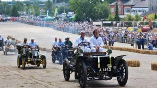 Brooklands race track opening