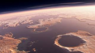 ดาวอังคาร, สึนามิ, วิทยาศาสตร์, อุกกาบาต