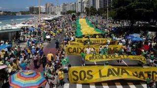 Manifestação a favor da operação Lava Jato