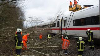 Repairs to Hanover-Göttingen railway in Germany, 18 Jan 18