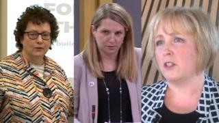 Elin Jones, Hannah Blythyn and Suzy Davies