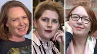 Left-right: Paula Hawkins, Clare Mackintosh, Shari Lapena