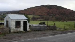 Derelict customs hut