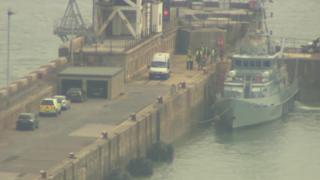 Border Force vessel at Dover