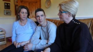 Lachlan Armstrong with his sister Dana Afrin and mother Amanda Darling