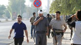 Курдские бойцы в Киркуке