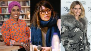 Nadiya Hussain, Lena Headey and Stacey Solomon