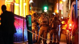 Armed police in London Bridge area