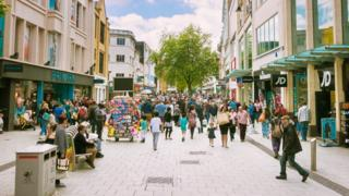 The High Street in Cardiff
