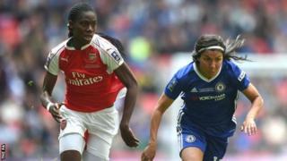 Asissat Oshoala akiichezea klabu ya Arsenal nchini Uingereza